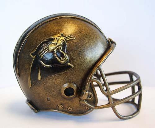 NFL Carolina Panthers Desktop Helmet Statue