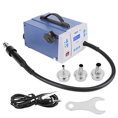- Digital Soldering 1000W LCD Display Rework Station Hot Air Solder Iron Kit Heat Gun 1-120 Adjustable Level