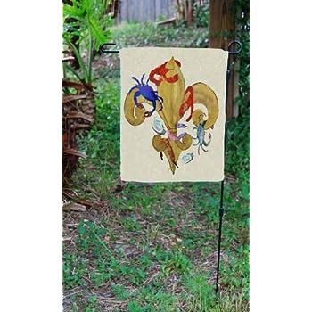 Cajun Fleur De Lis Garden Flag From Art