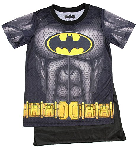 Bioworld Batman Boys Sublimated Cape Costume T-Shirt (Mens Batman Costume T-shirt)