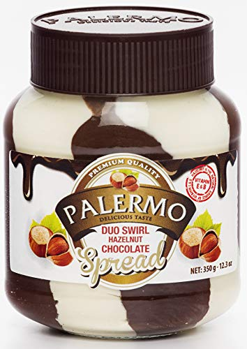 Palermo Hazelnut Duo Swirl Chocolate Spread, 12.3 Ounce