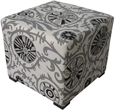 Amazon Com Big Joe Square Storage Ottoman 15 Inch Zebra
