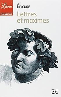 Lettres et maximes par Épicure