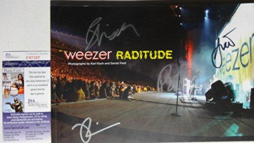 Signed Weezer Autographed Raditude Photo Book Certified Jsa # P87387 (Weezer Signed)