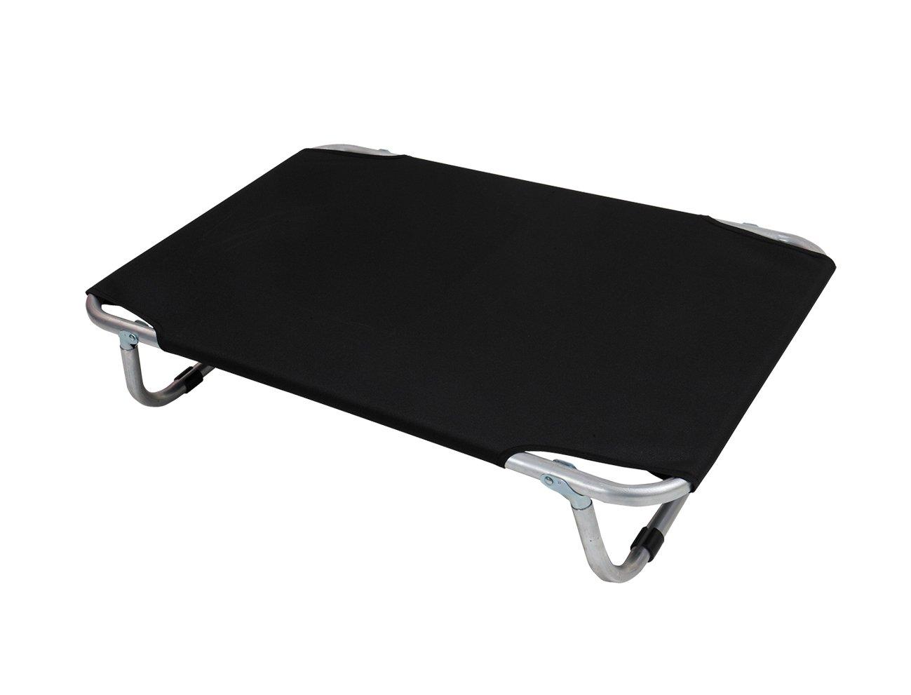 VADIGRAN Aluminium Dog Bed, 80 x 50 cm, Black