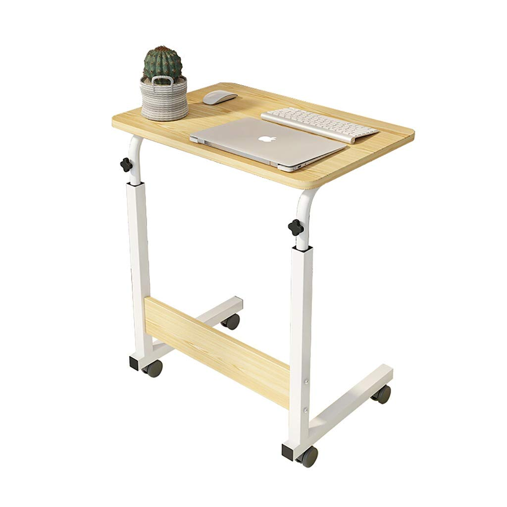 Log Large NYJS Computer Desk Folding,Computer Table Bedside Computer Desk, Home Laptop Desk, Lazy Computer Desk, Folding Computer Desk, Mobile Standing Desk, Lifting And Moving, Conference Training Table, Adjus