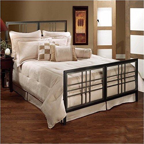 Hillsdale Furniture 1334BKR Tiburon Bed Set with Rails, King, Magnesium Pewter