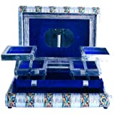 EtsiBitsi Jewelary Vanity box in White Metal good for personnel use and Gift (Blue)