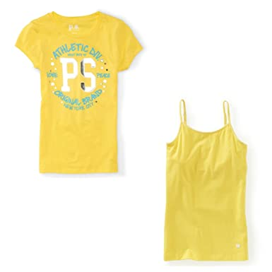 fc01e5896 Aeropostale - Girls 7 (XS) P.S. Kids Graphic Tee and Camisole Clothing Set