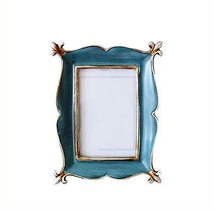 liuhoue Portaretrato Creativo Vintage,Marco De Resina De 6 Pulgadas Instalación Arte Decoración De Marco