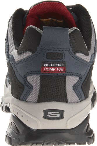 Skechers lavoro maschile Relaxed Fit morbido Stride Grinnel Comp, Navy / Grigio