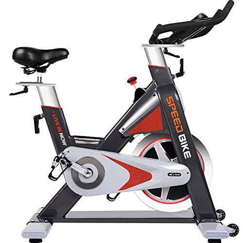 Pro Indoor Cycle Trainer LD577- Exercise Bike Commercial Standard by L NOW (Red)