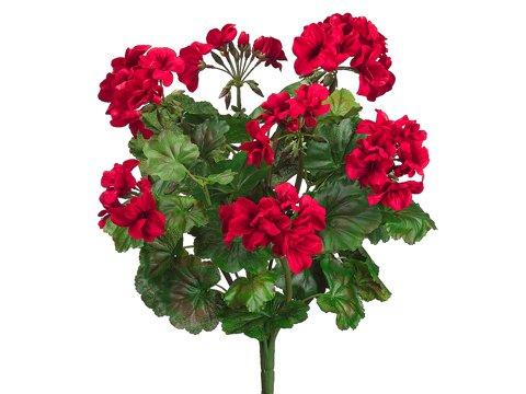 "19"" Water-Resistant Geranium Bush x9 RED (Pack of 6)"