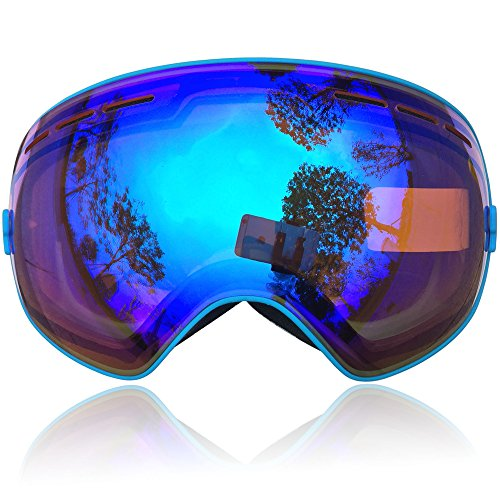a7517a07019 ZIONOR Lagopus X Ski Snowboard Goggles Full Mirror Coated Lens Spherical  Lens UV Protection Anti-fog Detachable Strap - Buy Online in Oman.
