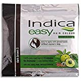 100 Pc Indica Easy10 Minutes Herbal Hair Color Shampoo Base Dark Brown Herbs