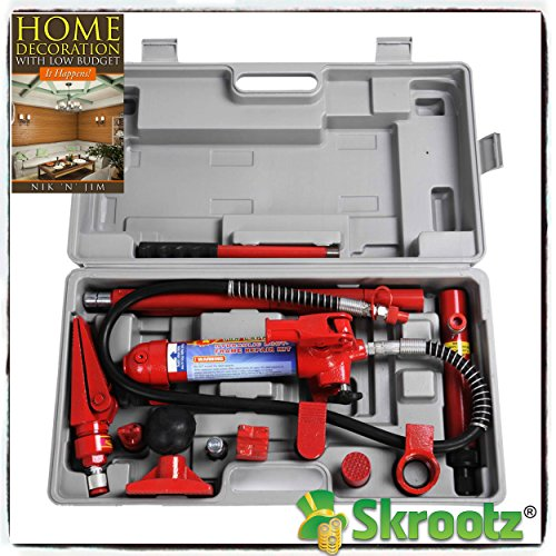 4 Ton Porta Power Hydraulic Jack Body Frame Repair Kit Auto Shop Tool Heavy Set by Skroutz