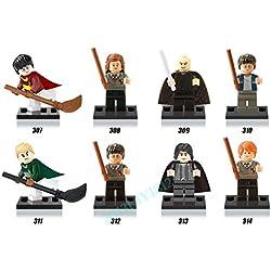 8pcs Harry Potter Voldemort Hermione Professor Snape Set Figures Kids Bricks Toy