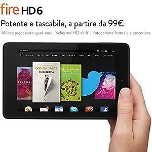 """Fire HD 6, schermo HD da 6"""", Wi-Fi, 8 GB (Nero) - Con offerte speciali"""