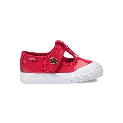 1966255fc53b5 Amazon.com | Vans Leena Patent Red Toddler Girl Shoes | Sneakers