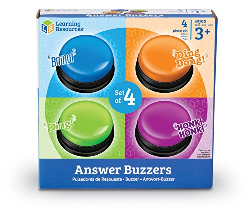 51KZaG2wGNL - Learning Resources Answer Buzzers, Set of 4