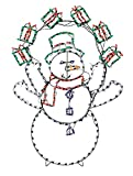ProductWorks (PRQVZ) 90061 265 Light LED Snowman with Gifts Display
