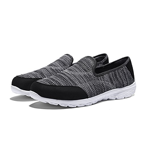 Running Madaleno Shoes Mesh Casual Sneakers Slip On Lightweight Sports Grey Women's Trainers Walking IqwCFq