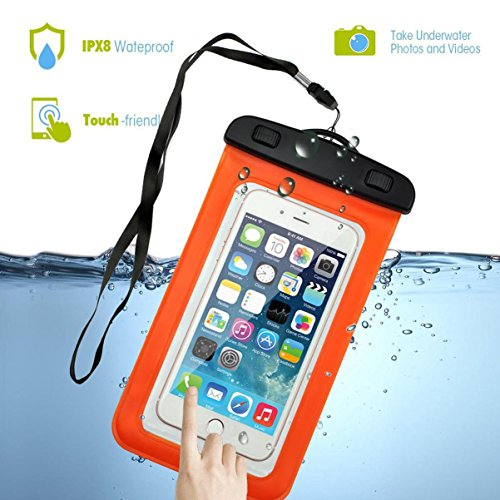 Waterproof Pouch, Firefish Waterproof Case Clear Phone Bag Transparent Snowproof Dirtproof Protective Cover for Apple iPhone 7 6 5, Samsung Galaxy S8 S7 S7 edge, LG, Motorola and Devices Up - Von Case Zipper