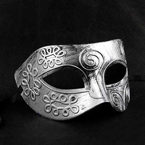 Fighter Masked for Cool Ball Fancy Face Greek Masquerade Halloween Adult Dress Silver Ball Mask ROSENICE Men Roman xXwOzASqS