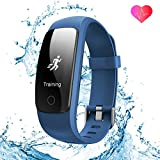Fitness Tracker by Runme – Upgraded 2018 3rd Generation Activity Tracker, Sports Fitness Watch with Sleep and Heart Rate Monitor, IP67-rated Waterproof Smart Band with Pedometer for Smartphone