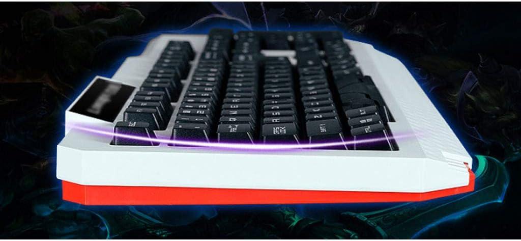 Teclado de computadora mecánico USB con Cable LED Gaming ...