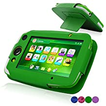 ACdream LeapPad Platinum Case, PU Leather Cover Case for LeapFrog LeapPad Platinum Kids Learning Tablet (NOT FIT LeapPad3), Green