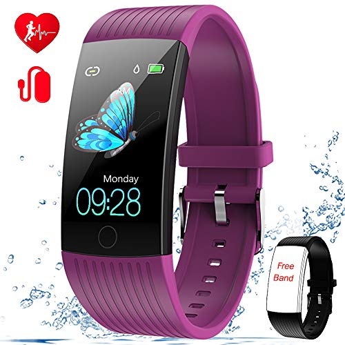 WELTEAYO Fitness Tracker with Heart Rate Monitor Fitness Watch Activity Tracker 1.14 Inch Color Screen Pedometer Blood Pressure Monitor Sleep Monitor IP67Waterproof Smart Watch for Android and iPhone