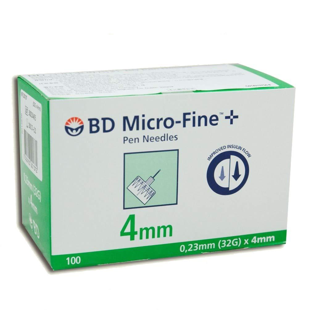 Medline Insulin Pen Needles, 32 Gauge, 4 mm (Pack of 100), safe