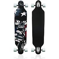 MammyGol 42 Inch Maple Longboard Skateboard Drop Through Complete Skateboard Cruiser for Cruising, Carving, Free-Style…
