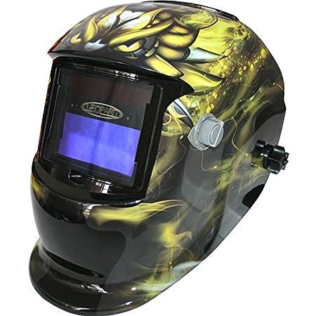 Leopard Solar & Battery Powered Auto Darking + Grinding Function Welding Helmet Mask Safety Gear - #02 Red Touch Global Ltd