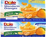 Dole Mandarin Oranges, 4 Ounce (Pack of 12)