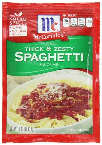 McCormick Thick Zesty Spaghetti Sauce