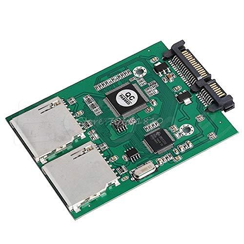 TD-ELECTRO New 2 Port Dual SD SDHC MMC RAID to SATA Adapter Converter for Any Capacity SD Card Z09 Drop Ship