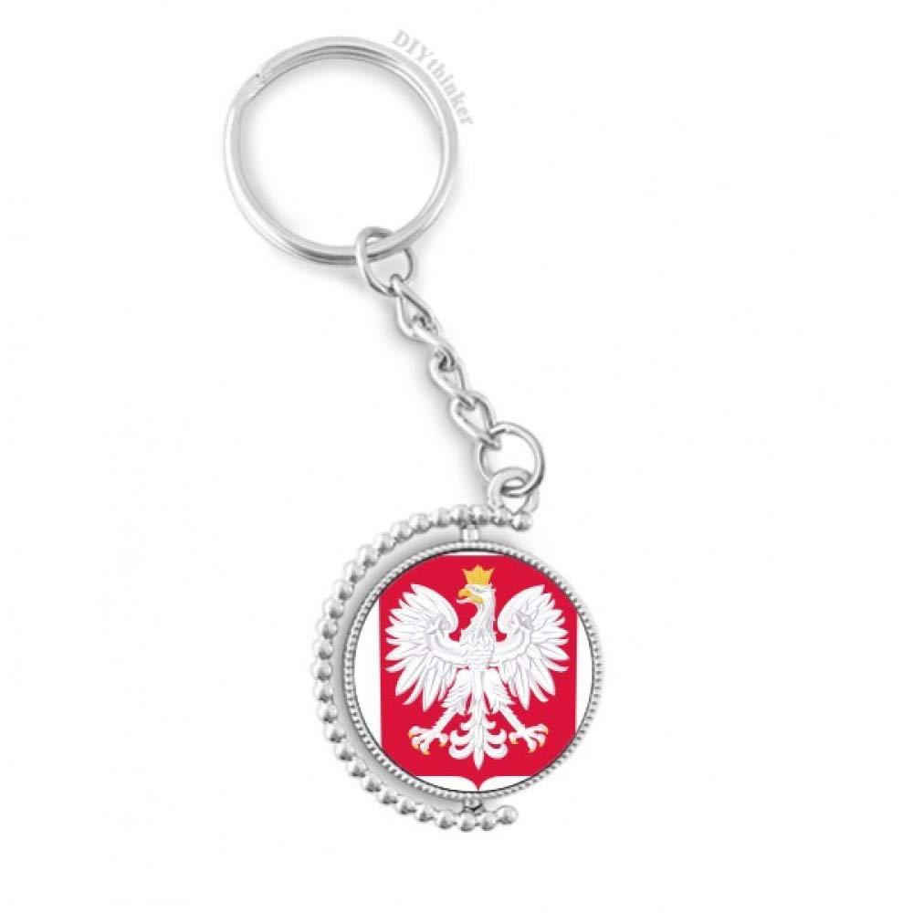 DIYthinker Pologne Europe de l'emblè me National Rotatif Porte-clé s Anneau keyholder 1, 2 Pouce x 3, 5 Pouces Multicolore sku03091169b3004357f20125