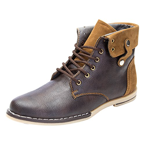 Guardian Brown Leather Boots For Men (Size: 9)
