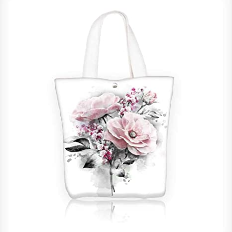 f19852b0b879 Amazon.com: Ladies canvas tote bag flowers flower in pastel colors ...