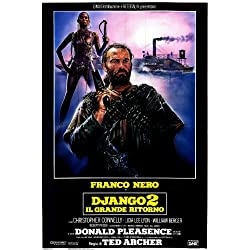 Django Strikes Again Poster Italian 27x40 Franco Nero Donald Pleasence Christopher Connelly