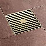SJQKA Floor Drain Antique Floor Drain Full Copper Deodorant Floor Drain Bathroom Bathroom Bathroom Shower Washing Machine Floor Drain Pure Copper, A