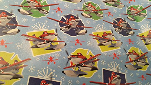 [Christmas Wrapping Pixar McQueen Lightning Planes Holiday Paper Gift Greetings 1 Roll Design Festive Wrap Disney] (Homemade Disney Character Costumes)