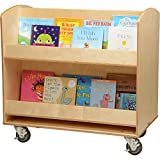 Constructive Playthings WB-1705 Baltic Birch Library Cart, Grade: kindergarten to 6, Brown