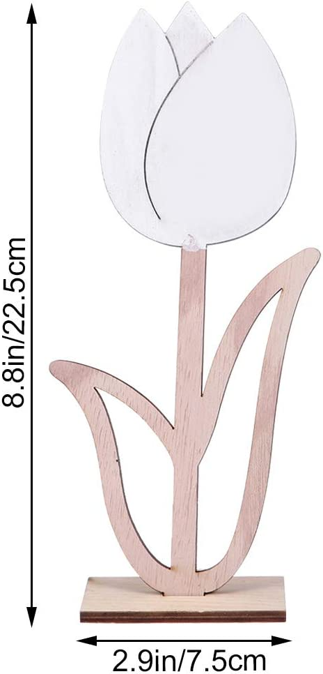 SUPVOX Decoración de Flores de Madera Decoración de Mesa de Flores Artificiales rústicas para Manualidades Cuarto de niños Sala de Estar Decoración de Mesa de Pascua (Tulipán sólido): Amazon.es: Hogar