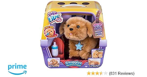 Amazon Com Little Live Pets Snuggles My Dream Puppy Little Live Pets Toys Games