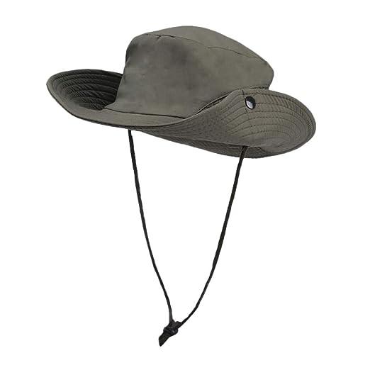 43ed75a0 Amazon.com: Sagton Bucket Hat for Women Summer Sun UV Protection Hat  Foldable Wide Brim Boonie Hats for Beach Safari Fishing Army Green: Clothing
