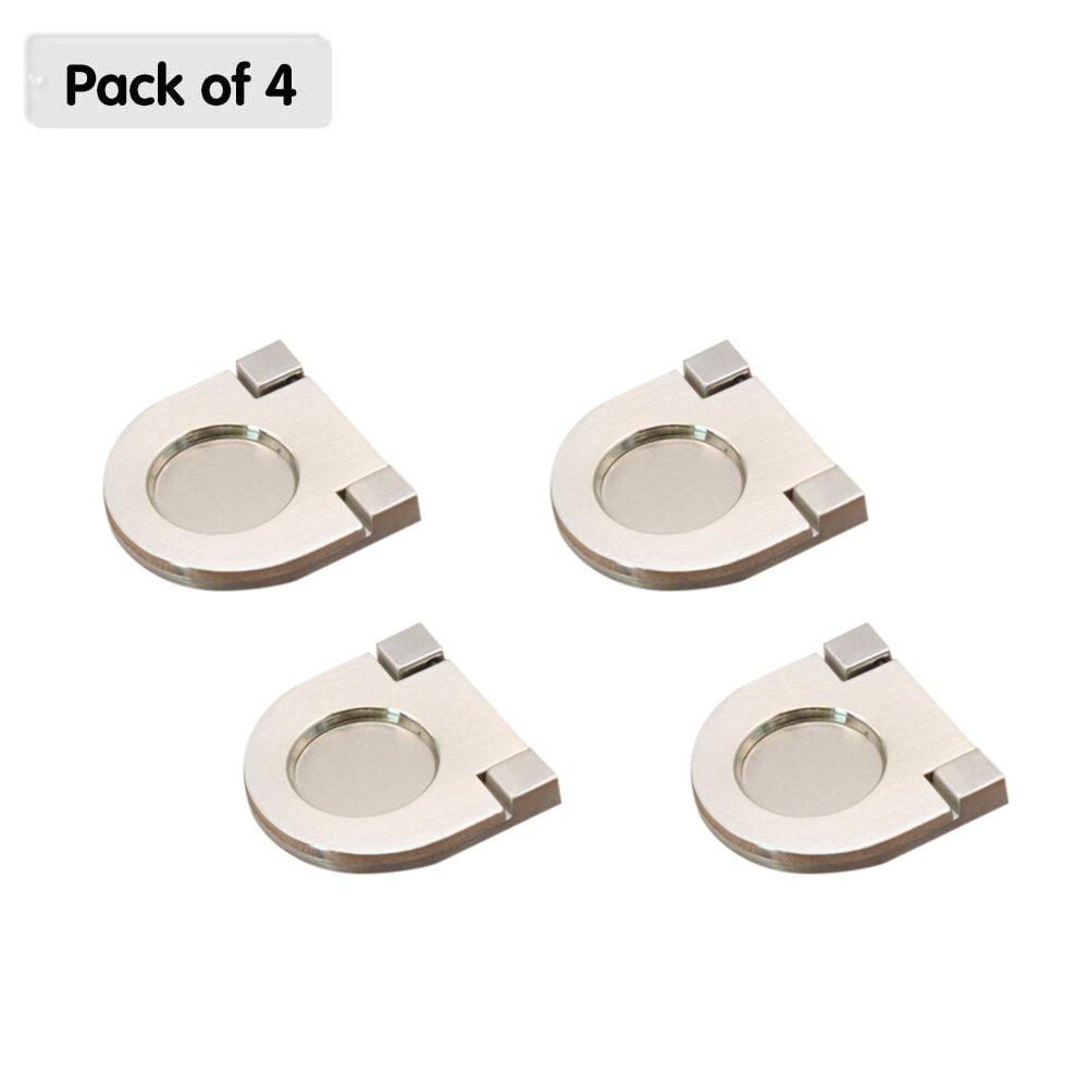 Zhi Jin 4pcs Simple Invisible tiradores de tirador para puerta de armario armario cajó n asas Pack Set Mobiliario de oficina, Small