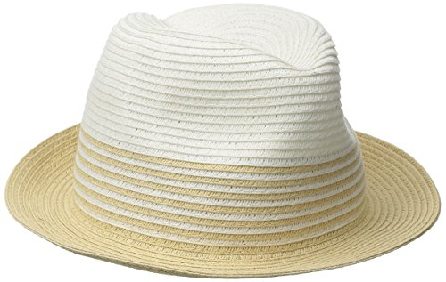 physician-endorsed-womens-sammy-d-two-toned-packable-fedora-hat-rated-white-natural-one-size